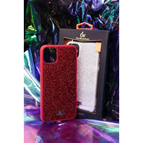 Чехол Bling World Pearl Diamonds (TPU) iPhone 11 Pro Red