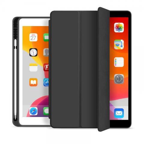 """Чехол Smart Case с держателем для стилуса для iPad 7 10.2"""" (2019) - Черный"""