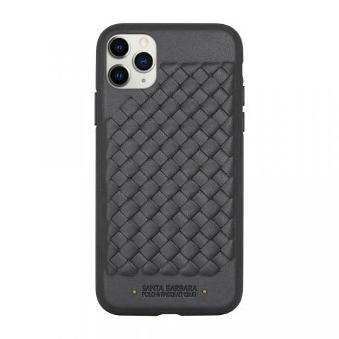 Кожаный чехол Polo Ravel чёрный для iPhone 11 Pro Max