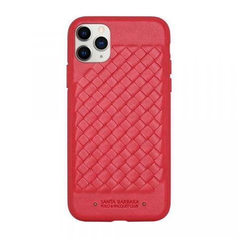 Кожаный чехол Polo Ravel красный для iPhone 11 Pro Max