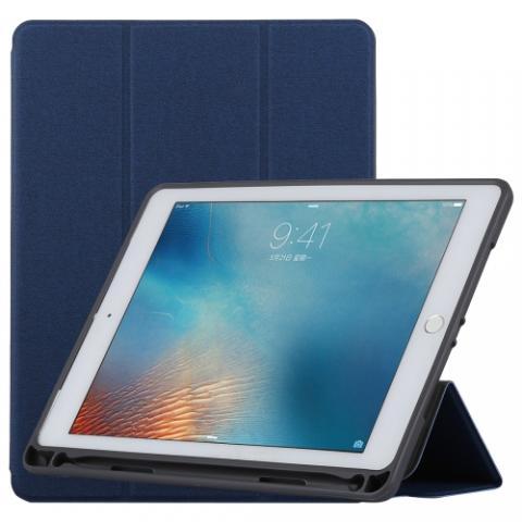 Чехол TOTU Curtain series case с держателем для стилуса для iPad Air Dark Blue
