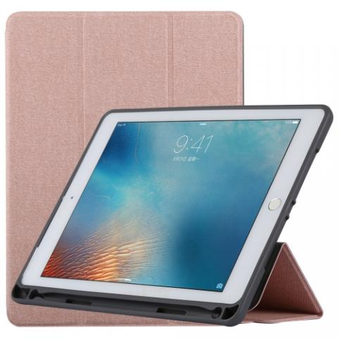 Чехол TOTU Curtain series case с держателем для стилуса для iPad Air Rose Gold