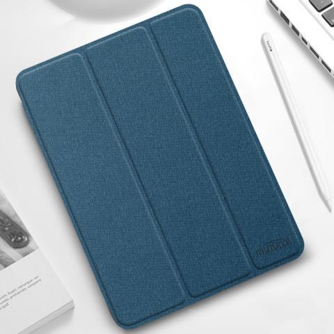 "Противоударный чехол-книжка Mutural YASHI Series для iPad Pro 12.9"" M1 (2021) - синий"