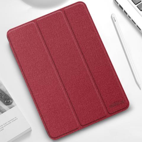 """Противоударный чехол-книжка Mutural YASHI Series для iPad Pro 12.9"""" M1 (2021) - красный"""