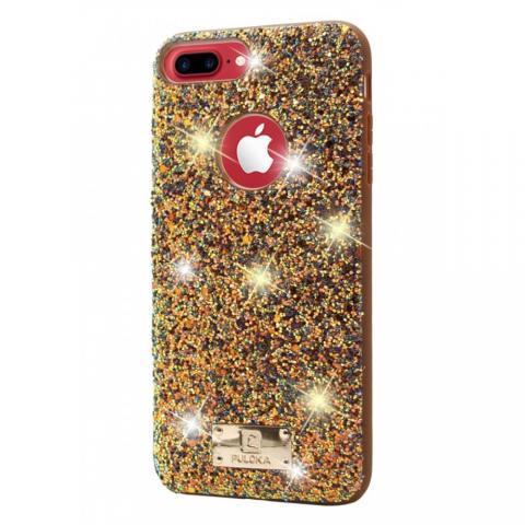 Чехол Puloka Shiny Texture для iPhone 7 Plus/8 Plus Gold