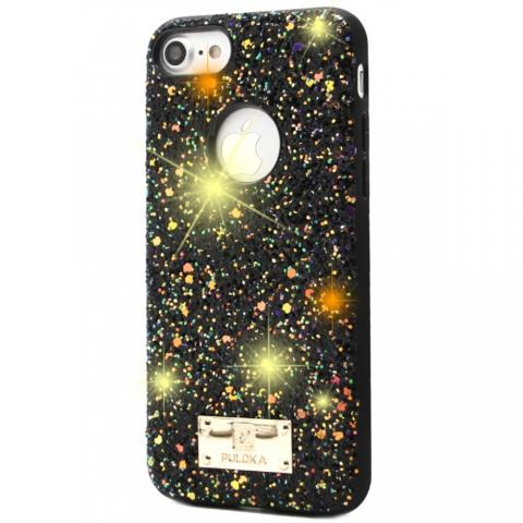 Чехол Puloka Shiny Texture для iPhone 7/8 Black