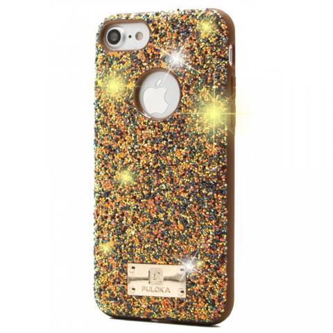 Чехол Puloka Shiny Texture для iPhone 7/8 Gold