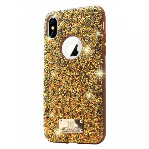 Чехол Puloka Shiny Texture для iPhone XS MAX Gold