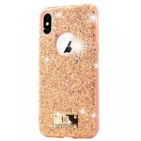 Чехол Puloka Shiny Texture для iPhone X/XS Pink