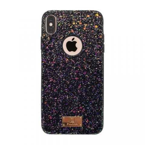 Чехол Puloka Shiny Texture для iPhone X/XS Black