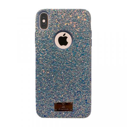 Чехол Puloka Shiny Texture для iPhone X/XS Blue
