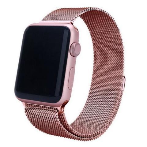 Ремешок Milanese Loop для Apple Watch 42/44 - Rose Gold