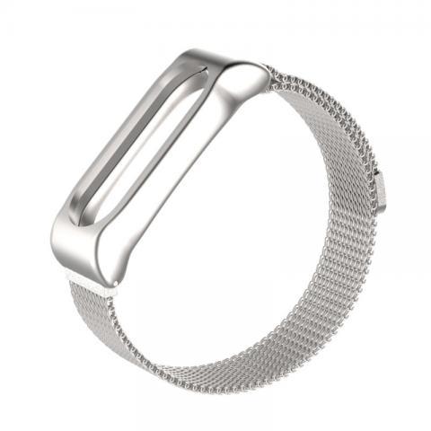Ремешок Milanese Loop магнитная застежка для Xiaomi Mi Band 2/3 Silver
