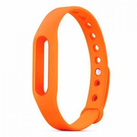 Cиликоновый ремешок для фитнес-браслета Xiaomi Mi Band 2/3 Orange