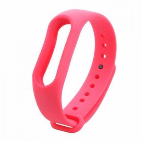 Силиконовый ремешок для фитнес-браслета Xiaomi Mi Band 2/3 Pink