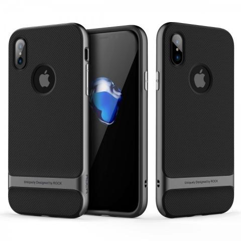 Чехол ROCK Royce Series Grey для iPhone X