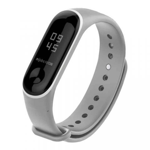 Силиконовый ремешок для фитнес-браслета Xiaomi Mi Band 2/3 Grey