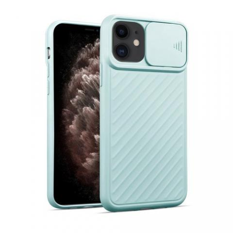 Чехол Slide Camera Protection для iPhone 11 - Tiffany
