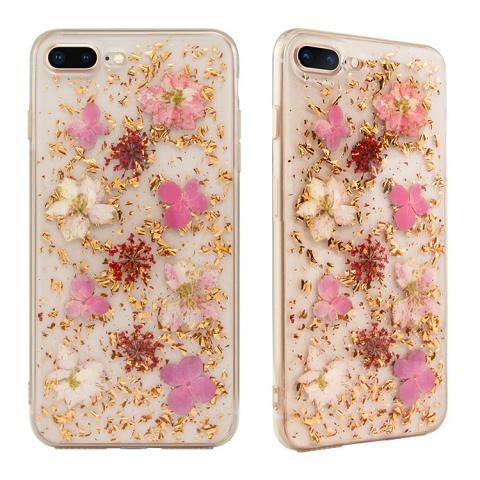 Чехол SwitchEasy Flash прозрачный с розовыми цветами для iPhone 8/7 Plus