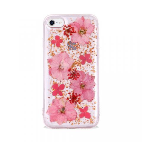 Чехол SwitchEasy Flash прозрачный с розовыми цветами для iPhone 8/7