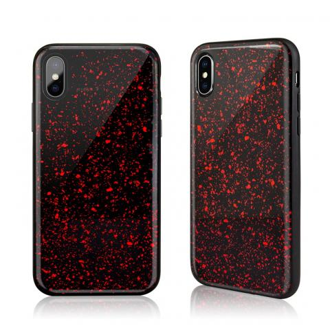 Чехол SwitchEasy Flash красный со звездами для iPhone X