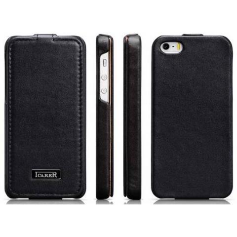 Кожаный чехол Icarer Luxury для iPhone 5/5s - черный