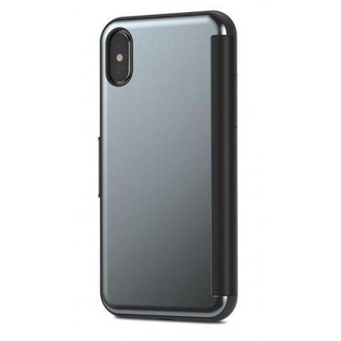 Moshi StealthCover Slim Folio Case Gunmetal Gray for iPhone X (99MO102021)