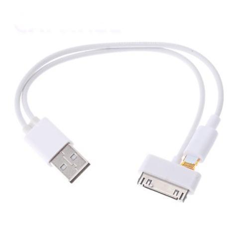 2 в 1 USB кабель для зарядки iPhone, IPad
