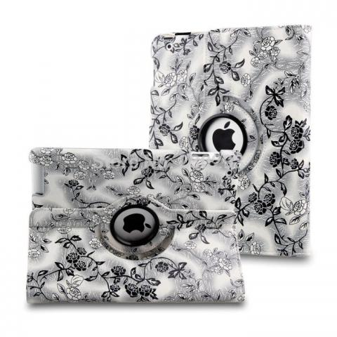 Чехол 360° Rotating Stand/Case Flower для iPad 4/ iPad 3/ iPad 2 - White