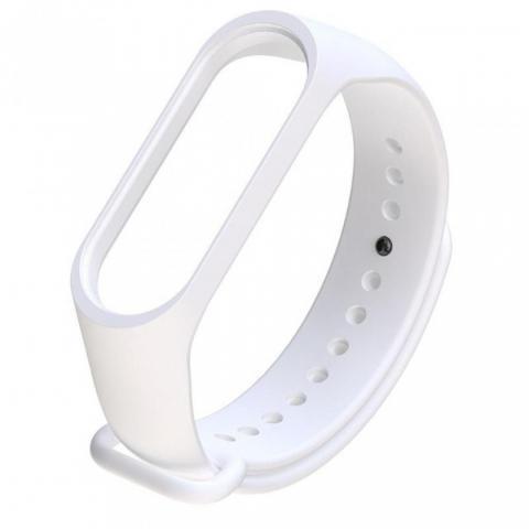 Силиконовый ремешок для фитнес-браслета Xiaomi Mi Band 2/3 White
