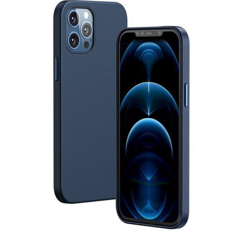 Чехол Baseus Original Magnetic Leather Case для iPhone 12 Pro Max - Blue